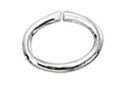 Jumpring Oval Open 5mm by 7mm Sterling Silver Sold 1 Per Package